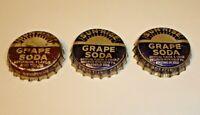 Vintage Lot (3) Sun-Rise Grape Soda Cork Lined Pop Bottle Caps Dubuque, Iowa