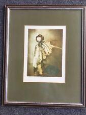 """Vladimir Suchanek: """"Herbst"""", Farblithographie, signiert, 22x30 cm, gerahmt,"""