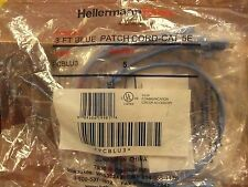 Hellermann Tytion  PCBLU-3   Blue Patch Cord  3ft   5pack   Cat 5