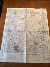 """1969 RAF MINISTRY OF DEFENCE """"CAMBRIDGE AND ELY"""" (35.5"""" x 29.5"""") CHART MAP"""