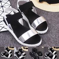 Women's Summer Sandals Shoes Peep Toe Flat Shoes Roman Sandals Ladies Flip Flops