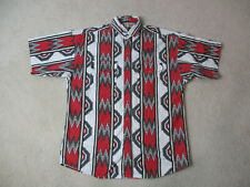 Panhandle Slim Button Up Shirt Adult Large Red White Western Cowboy Rodeo Mens