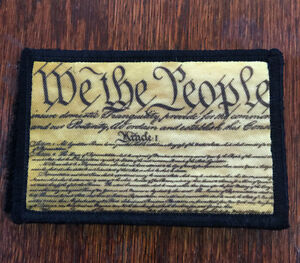 We The People Morale Patch Military 2A  Tactical ARMY Hook Military USA Badge