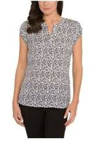 Hilary Radley Women's Lightweight Short Sleeve Blouse Top Shirt *NWT*