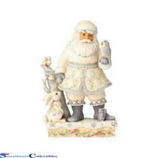 Jim Shore Heartwood Creek 6001407 White Woodland Santa With Owl 2018