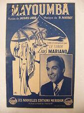 Partition Mayoumba par Luis Mariano