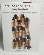 Sephora 10HR Wear Perfection Foundation Walnut Beige Ivory Sample .17 oz/.5g New