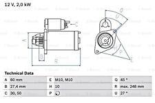Anlasser Starter BOSCH 0 001 147 404 M10 für MERCEDES SL R231 AMG GT C190 KLASSE
