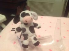 "Spotted Cow Plush 4"" Finger Puppet Starbucks Collectible Pretend Play Toy"