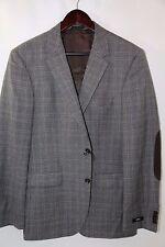 #56 $745 Hugo Boss Elbow Patch 'The Smith11' Trim Fit Plaid Blazer Size 40 R