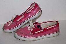 Sperry Topsider Bahama 2 Eye Boat Shoe, #9383258, Pink/Sequins, Women's US 7.5