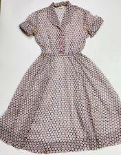 New listing Vintage 1940's Sheer Dress See Through Print Gay Gibson Talon Side Zip