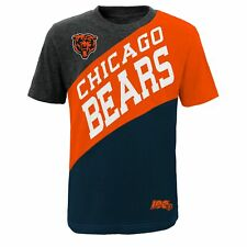 Outerstuff NFL Youth Boy (8-20) Chicago Bears Fresh Short Sleeve Color Block Tee