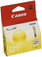 GENUINE NEW Canon CLI-221 (2949B001) Yellow Ink Cartridge