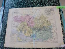 Carte géographique couleur 19°:MORBIHAN avec plan de VANNES