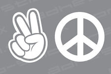 Peace Sign Sticker Vinyl Decal - Set of 2