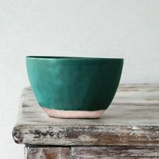 1 x Courgette Bowl, Clay Ceramic, Rice Cereal Soup Dessert Rustic Dinnerware