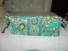 "VERA BRADLEY ""PEACOCK"" SMALL BOW COSMETIC RETIRED EGUC"