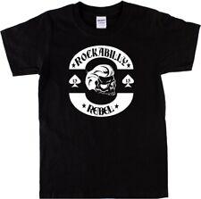 'Rockabilly Rebel' Skull T-Shirt - Rock'n'Roll, Greaser, Various Colours, S-XXL