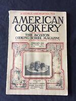 American Cookery Magazine 1929 February, VINTAGE Ads Cookbook Recipes Menus