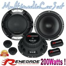 RENEGADE RX6.2C Altoparlanti Kit 2 Vie Casse Auto Woofer 165 Tweeter 200w RX6.2C