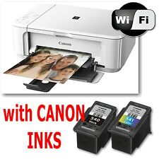 Canon PIXMA mg3550 All in One Stampante Fotocopiatrice Scanner Wireless + gli inchiostri usati