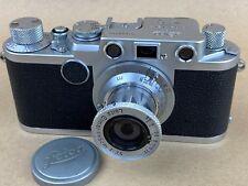 LEICA IIf Vintage 1953 camera w/ 5cm F/3.5 Elmar Red Scale Lens # 650754 - Clean