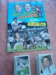 COMPLETE FULL SET TOPPS SAINT & GREAVSIE ALL STAR FOOTBALL CARDS  + EMPTY ALBUM