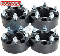 (4) 2 inch 5x4.5 Black Wheel Spacers Adapters fits Ford Mustang Ranger Explorer