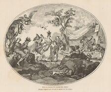 C1473 Allegoria Francese - Viva la danza e il passo del Terzo - 1890 xilografia