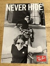 Ray-Ban - NEVER HIDE - Full-Page Magazine Ad  2-sided Ads