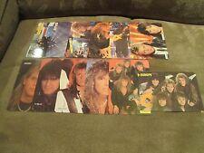 EUROPE Complete Calendar Cards Set; Mint Set of 12; 1987; Rock Music