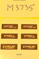 hornby oo spares M3735 south east cab destination labels (self adhesive) new