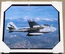 GRUMMAN A-6E INTRUDER USN VA USMC VMA(aw) AIR-TO-AIR COLOR PHOTO FRAMED 16x20 IN