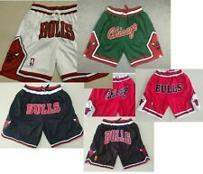 Vintage Chicago Bulls Shorts - Red Green White Black Color Stitched