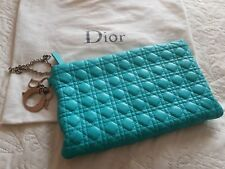 Ladies Dior Miss Dior Blue Leather Clutch