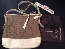Vintage Coach Womens Leather Canvas Bag Tote Purse Rl Lv Fashion Brown