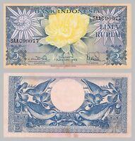 Indonesien / Indonesia 5 Rupiah 1959 p65 unz.