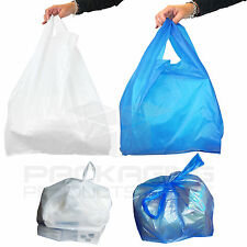 More details for plastic vest carrier bags blue or white *all sizes*
