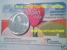 5 euro UNC 2012 Paesi Bassi pays bas Olanda Nederland Tulipani Tulpen Turchia