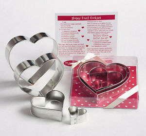 NESTING HEARTS GIFT SET COOKIE CUTTERS~~ BY ANN CLARK