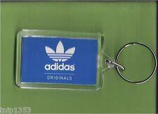 New Adidas Originals Blue/White Key Chain 1/14 inches x 2 inches