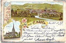Cassel (Kassel), Farb-Litho, frühe AK, 1897