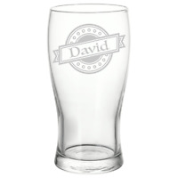 Personalised Name Logo Pint Glass Perfect Unique Birthday Gift Free Delivery