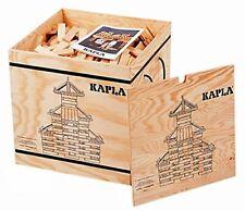 Kapla 1000er Boîte en Bois avec Rouleaux Neuf et Emballage D'Origine de Blocs