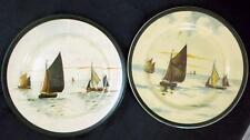 Royal Doulton SHIPS 2 Dinner Plates D2872 one in Great Condition & 2nd is Worn