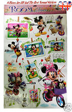 Nouveau 3D Mickey & Minnie Mouse wall sticker, autocollant mural chambre enfants