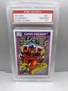 JUGGERNAUT X-MEN 1990 IMPEL CARD EMC GRADED 10 GREAT CARD ! VINTAGE