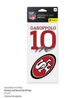 Jimmy Garoppolo San Francisco 49 ers 2 Aufkleber Decal Badge Emblem NFL Football