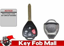 NEW Keyless Entry Remote Key Fob UNCUT KEY & CASE ONLY For a 2010 Toyota Corolla